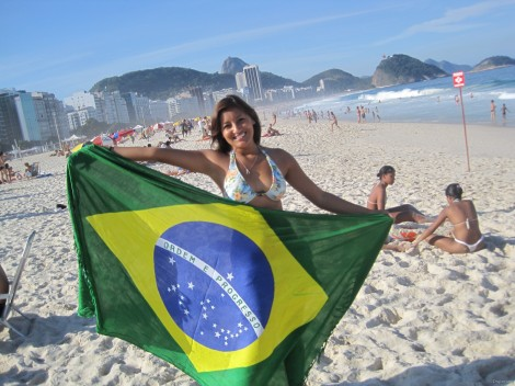 A-Girl-With-Brazil-Flag-